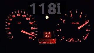 BMW 118i E87 Acceleration 0-200 km/h