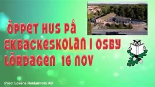 Ekbackeskolan Öppet hus, lördagen 16 november kl 11-14-2019