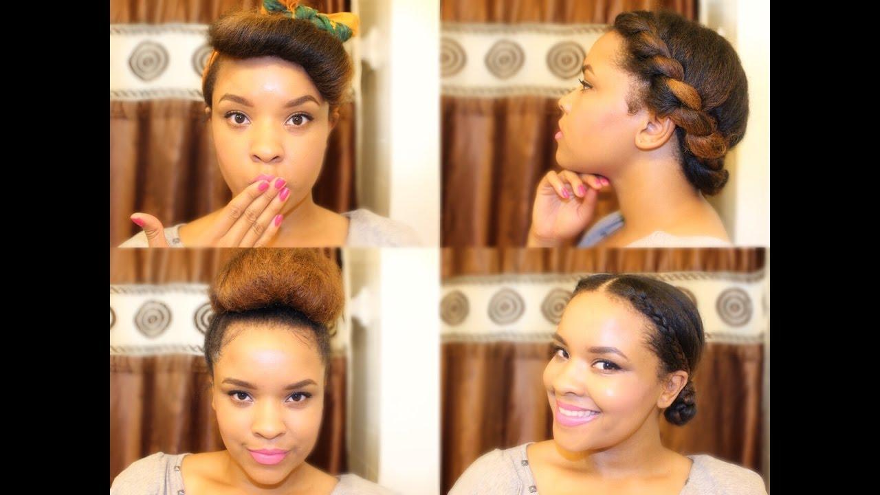 Protective Styles w/ Straightened 4A Natural Hair  YouTube
