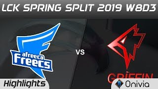 AF vs GRF Highlights Game 1 LCK Spring 2019 W8D3 Afreeca Freecs vs Griffin LCK Highlights by Onivia