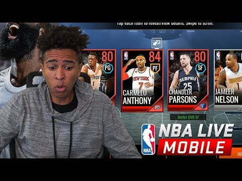 NEW NBA LIVE MOBILE 18 IS LEET AF! PACKS ARE HOT! thumbnail