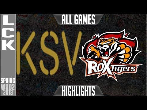 KSV vs ROX Highlights ALL GAMES | LCK Week 9 Spring 2018 W9D2 | KSV-E Sports vs ROX Tigers