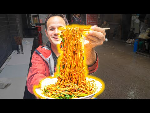 The BEST Noodles in the WORLD!!! Chinese FIRE NOODLE + Street Food Tour of Chongqing – EXTREME!!!