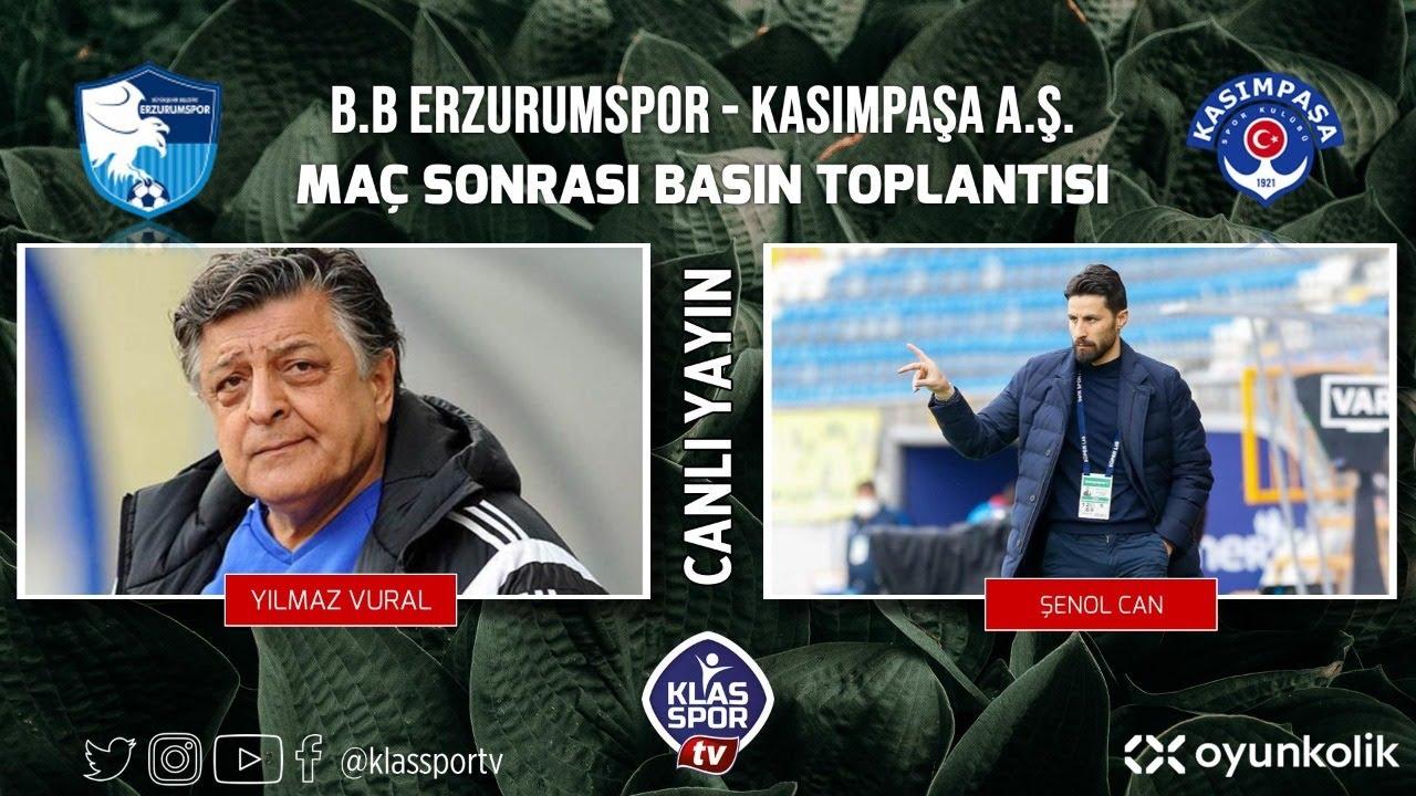 Erzurumspor - Kasımpaşa Basın Toplantısı ᴴᴰ (CANLI)