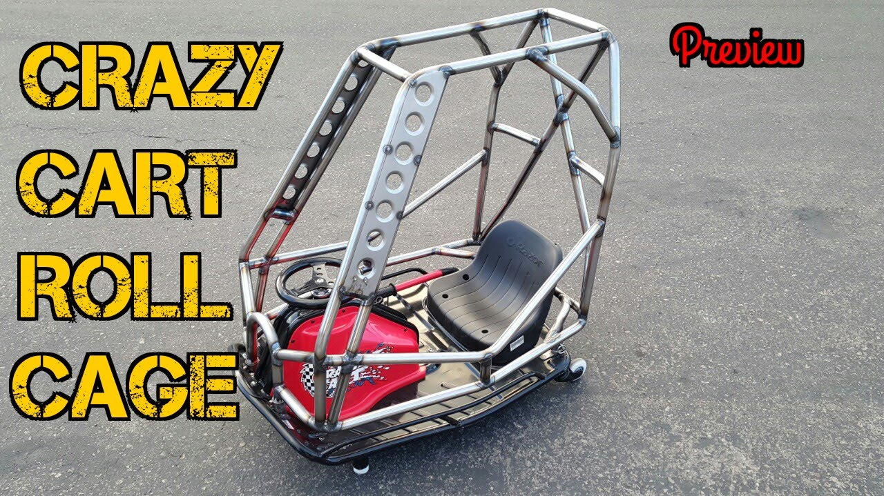 tfs razor crazy cart roll cage preview youtube. Black Bedroom Furniture Sets. Home Design Ideas