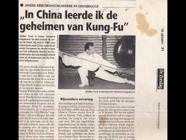 Taijiquan Chen and Qigong workshop Sifu Walter Toch Wervik 1997
