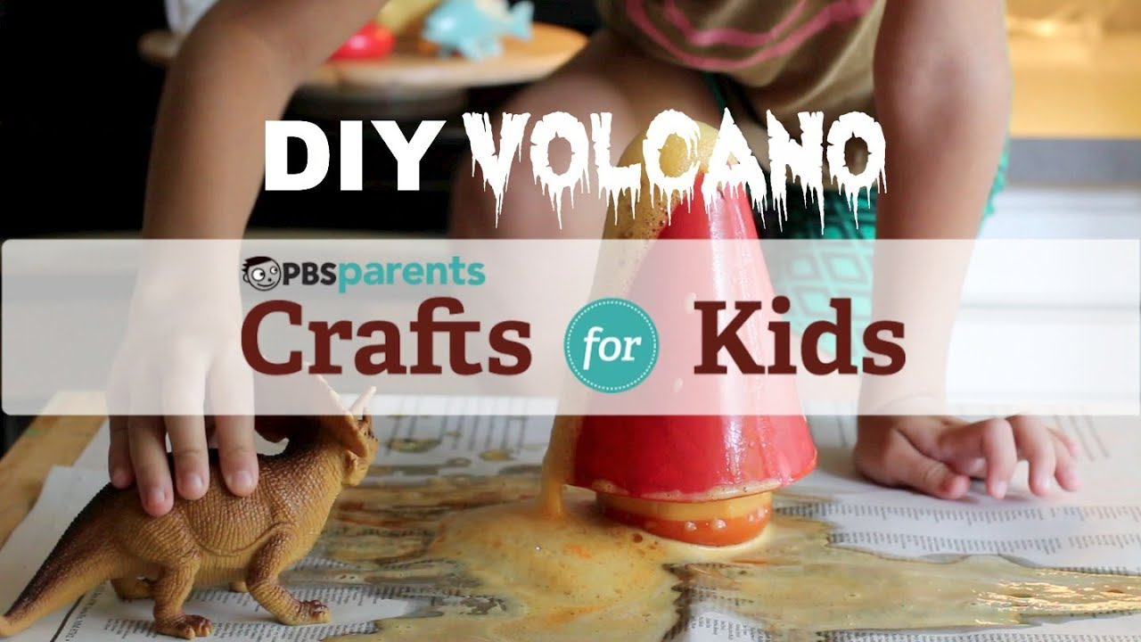 diy crafts for kids diy volcano science crafts for pbs parents 12502