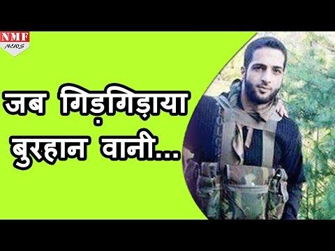 Some shocking details of the Burhan Wani's encounter, ARMY के सामने रोया था BURHAN VANI ,