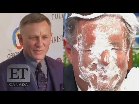 Piers Morgan Gets PieFaced After Daniel Craig Diss
