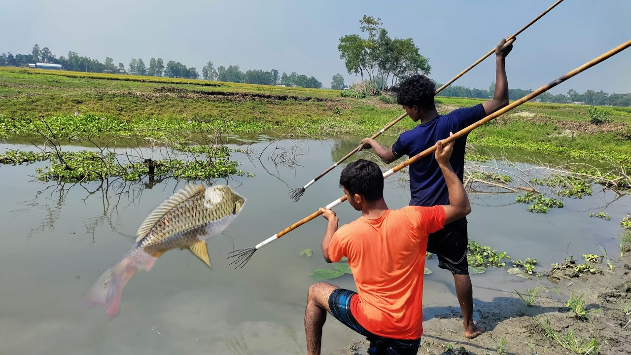 Best Fishing⏩Spearfishing & Catch Big Fish🖤The First Trap Can Catch  Lot Of Big Fish❤️Village Lover