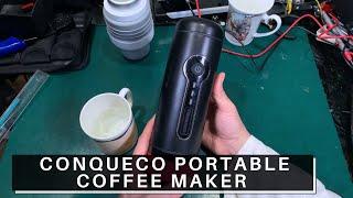 Review CONQUECO Battery Portable Coffee Maker - 12V Travel Espresso Machine