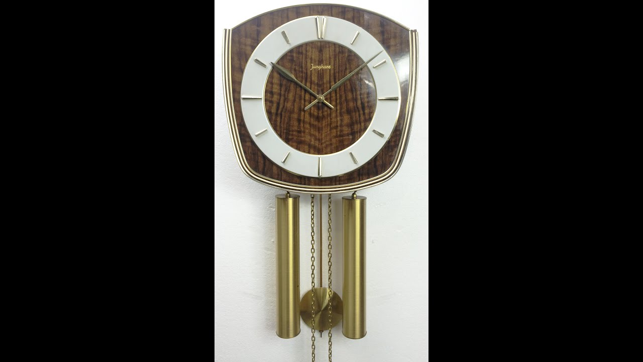 Clock strike chime sound retro junghans weight driven wall clock strike chime sound retro junghans weight driven wall pendulum 1075 bidaway amipublicfo Images
