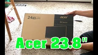 Unboxing Acer R240HY bidx 23.8-Inch IPS HDMI DVI VGA (1920 x 1080) Widescreen Display
