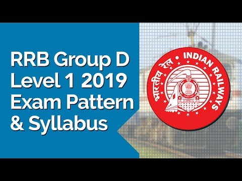 RRB Group D Level 1 2019 Exam Pattern and Syllabus - YouTube