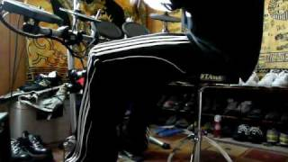 roland v drums double bass drum workout session dw 9002 bass pedal