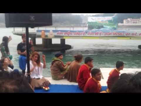 Ganga Aarti_prayer song@ Parmarth Niketan , Rishikesh, December, 2017