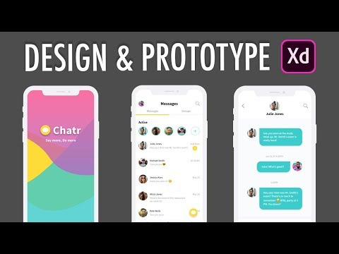 Adobe XD Design & Prototype Messenger Chat App (Part 1)