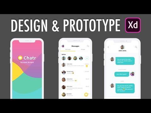 Adobe XD Design & Prototype Messenger Chat App (Part 1)