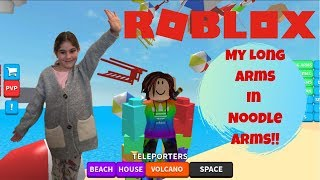 My Long Rainbow Arms In ROBLOX Noodle Arms