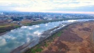 ドローン(DJI Phantom 4) 空撮テスト 千葉・埼玉・茨城県境の眺望