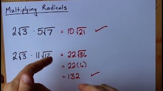 Multiplying Radicals (How t๐ + 3 Examples)