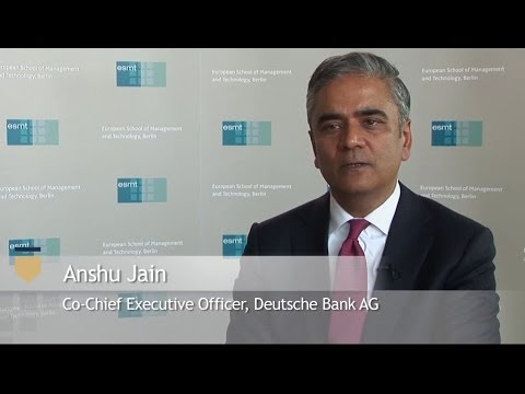 "ESMTcast - ""90 Seconds with . . . Anshu Jain"""