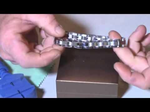 Men Sleek Anium Steel Magnetic Therapy Bracelet In Velvet Review Stylish