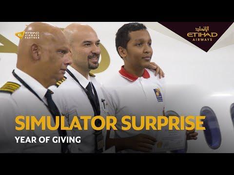 Simulator Surprise   Year of Giving   The Future Rehabilitation Centre   Etihad Airways