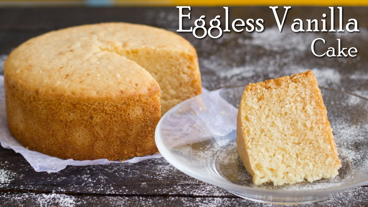 Eggless Vanilla Sponge Cake No Oven In Pressure Cooker Condensed Milk The Terrace Kitchen