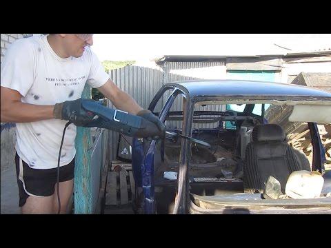 Срезаем крышу на ВАЗ 2110 - сабельная пила Bosch в действии