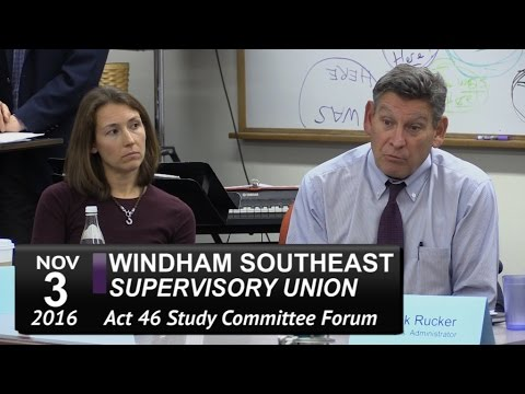 WSESU Act 46 Study Mtg 11/3/16