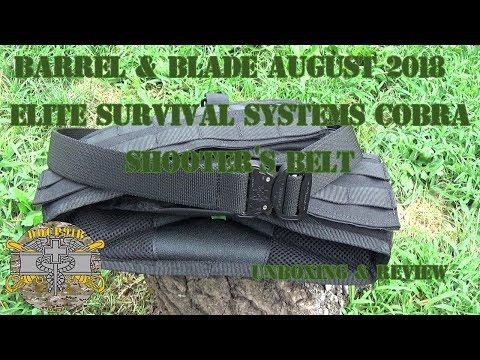Barrel & Blade August 2018 - Elite Survival Systems Cobra Shooter's Belt Unboxing & Review
