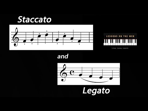 Staccato and Legato: What they Look Like and How to Play Them