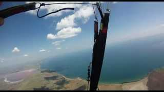 сross-country flight in Crimea. Тобечикский лиман - Кыз Аульский маяк