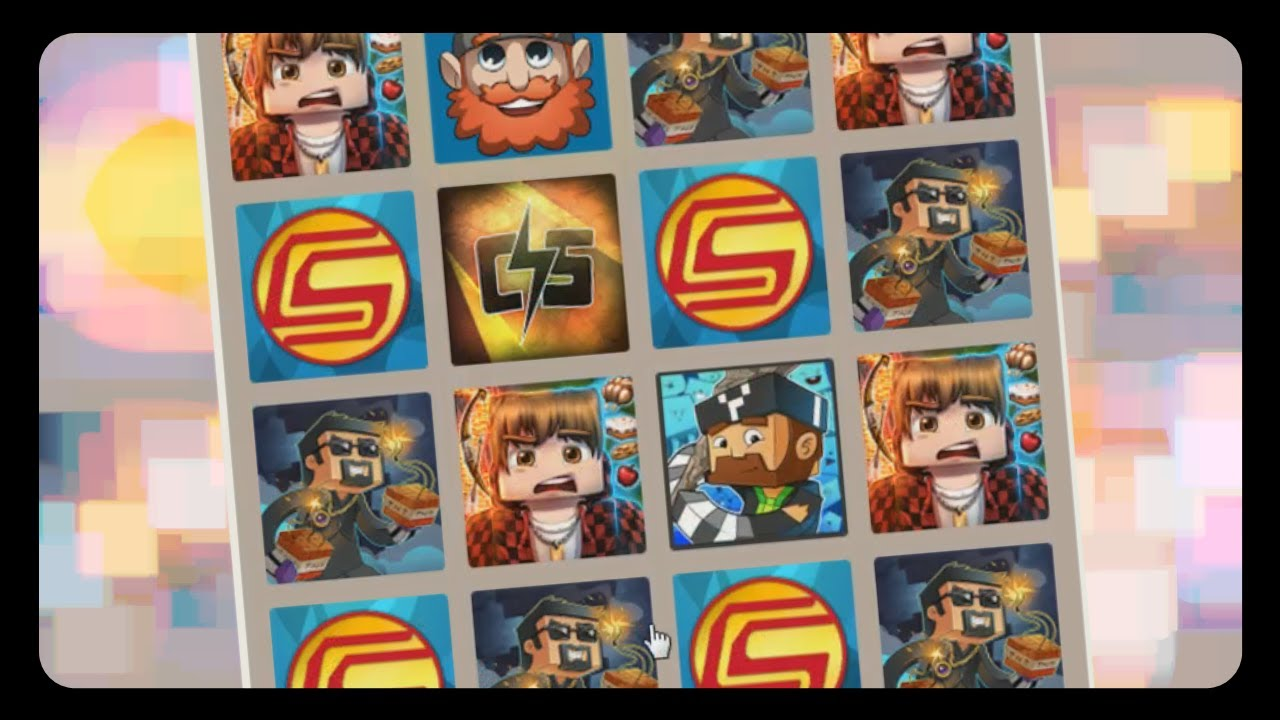 2048 Minecraft Edition W Youtuber Heads Scavenger Hunt For Kids Minecraft Youtube
