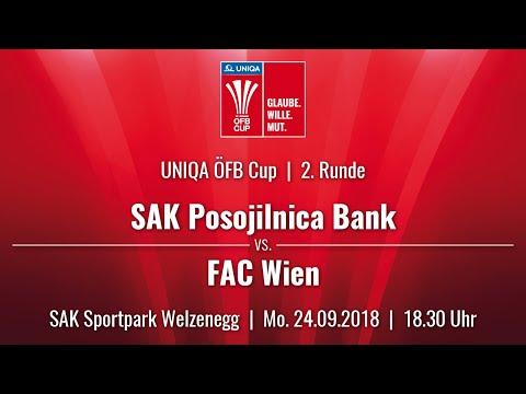 24.09.2018 | 18:30 | SAK Klagenfurt vs FAC Wien |UNIQA ÖFB Cup 18/19 |2. Runde