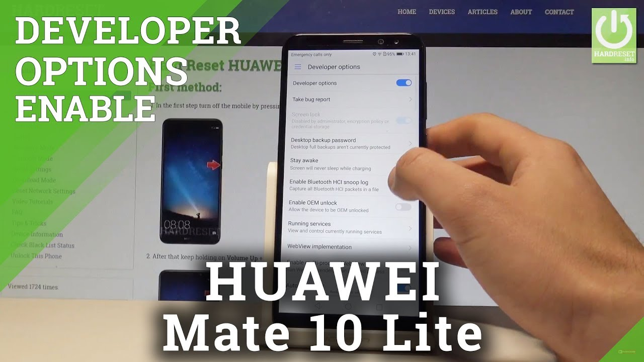 How to Unlock Developer Options in HUAWEI Mate 10 Lite - OEM Unlocking   HardReset info