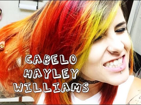 Cabelo Hayley Williams / Fênix / Fire ♥ Pintando com Anilina