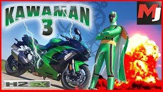 Kawasaki H2 SX : KAWAMAN doit sauver le monde ! MOTO JOURNAL