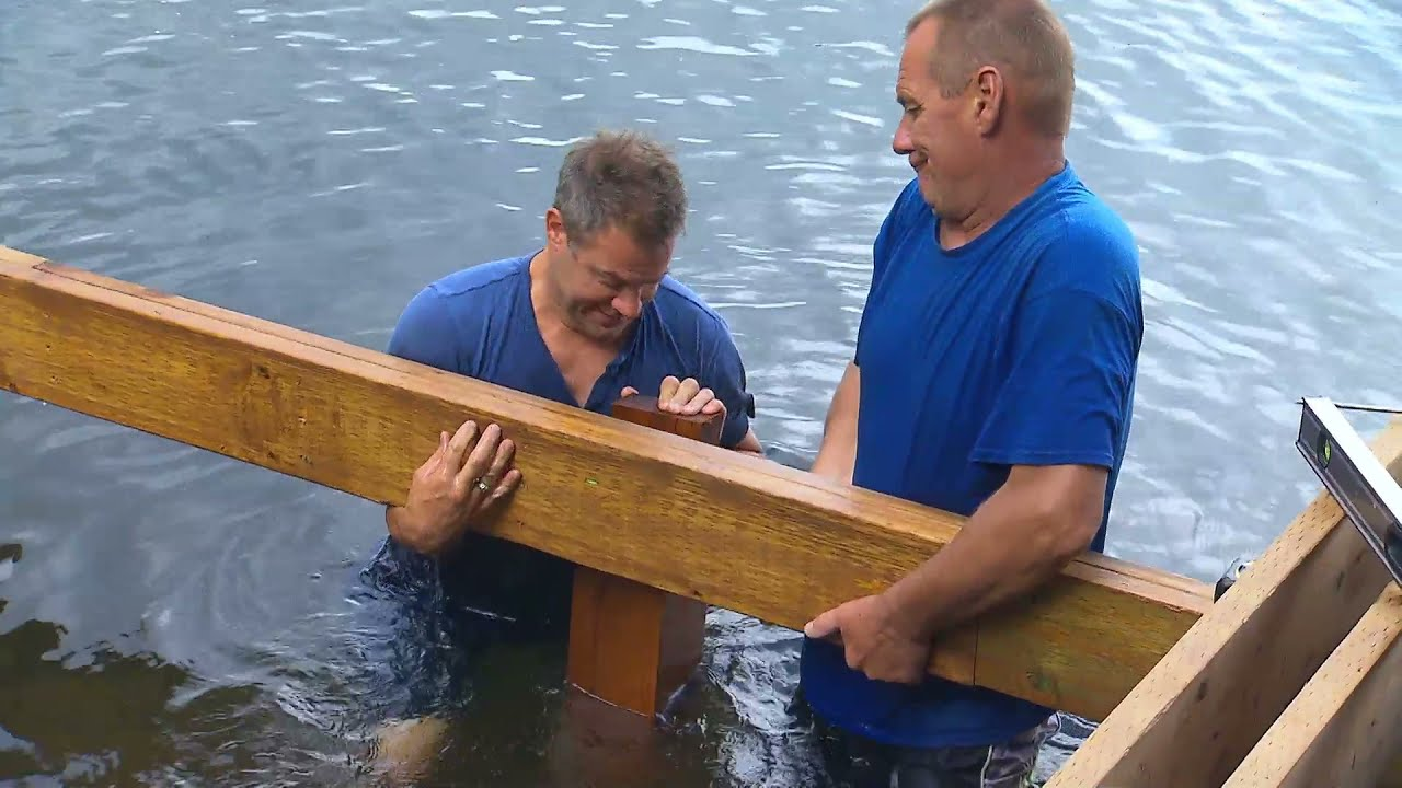 Small Lakefront House Plans Building A Shoreline Deck Youtube