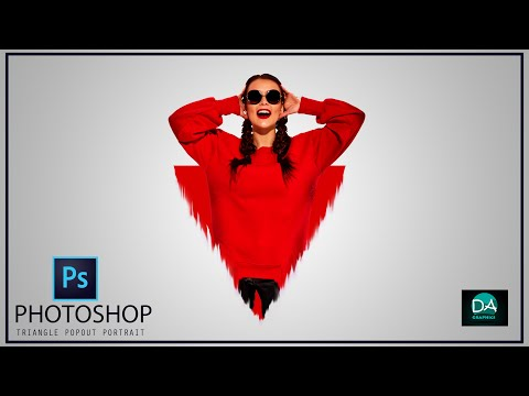 TRIANGLE POPOUT PORTRAIT IN PHOTOSHOP | PHOTOSHOP TUTORIAL