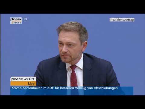 Christian Lindner zum Koalitionsvertrag von CDU, CSU und SPD am 12.03.18