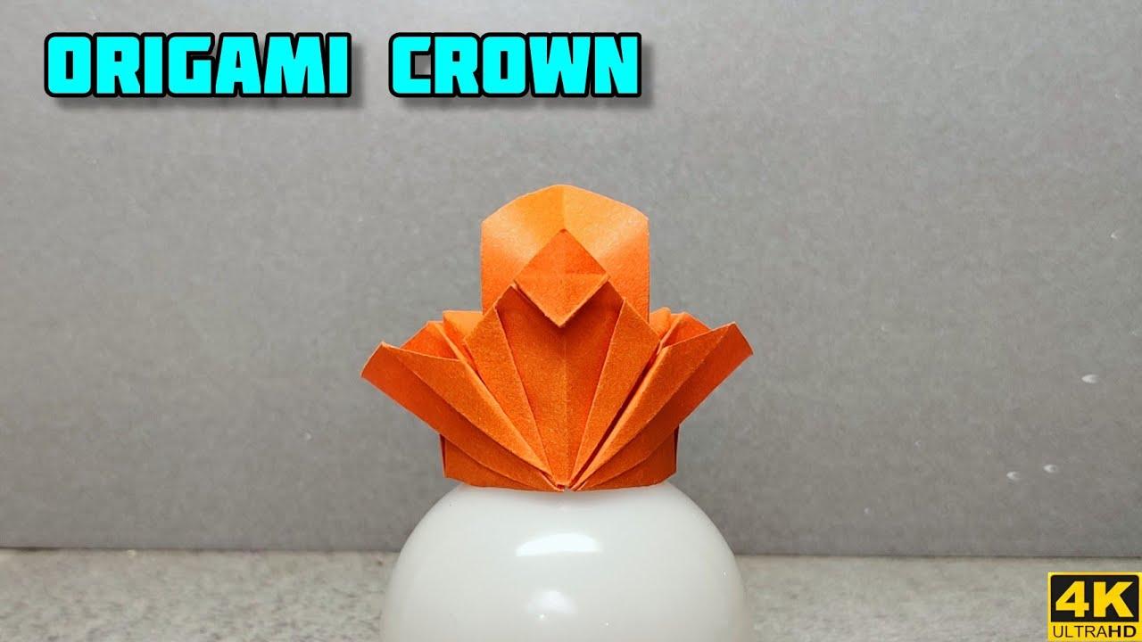 Origami Crown   Origami tutorial    Paper craft