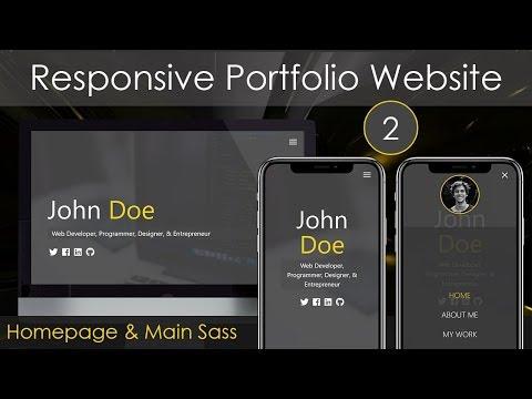 Responsive Portfolio Website [2] - Homepage & Main Sass - YouTube