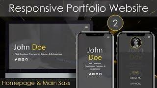 Responsive Portfolio Website [2] - Homepage & Main Sass
