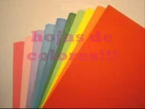 Tema #1 de la Semana: Manualidades con Hojas de Colores ♥ - YouTube