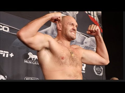 Tyson Fury Weighs In At 263 Lbs Pre Weigh In Ahead Of Tom Schwarz Fight Not The Public Weigh In