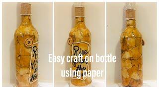 Bottle art with coffee powder/bottle art