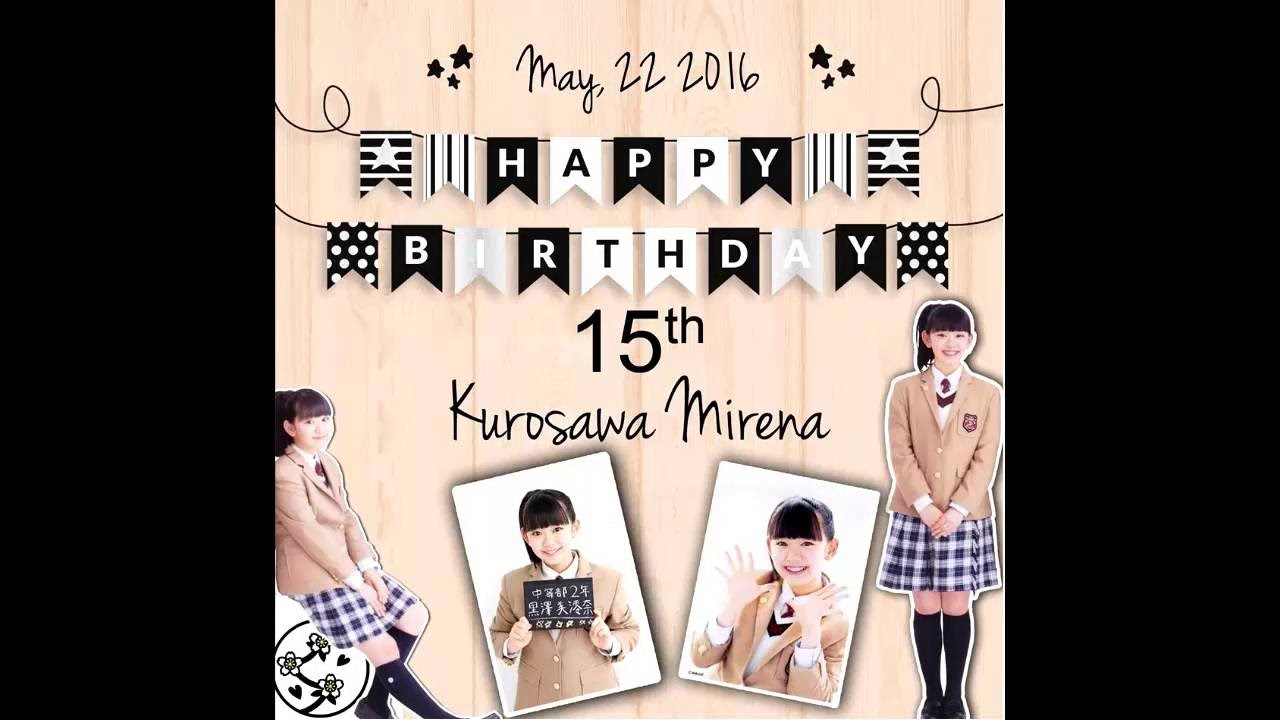 Happy Birthday Kurosawa Mirena! - from Indonesian Fans (Late Project)
