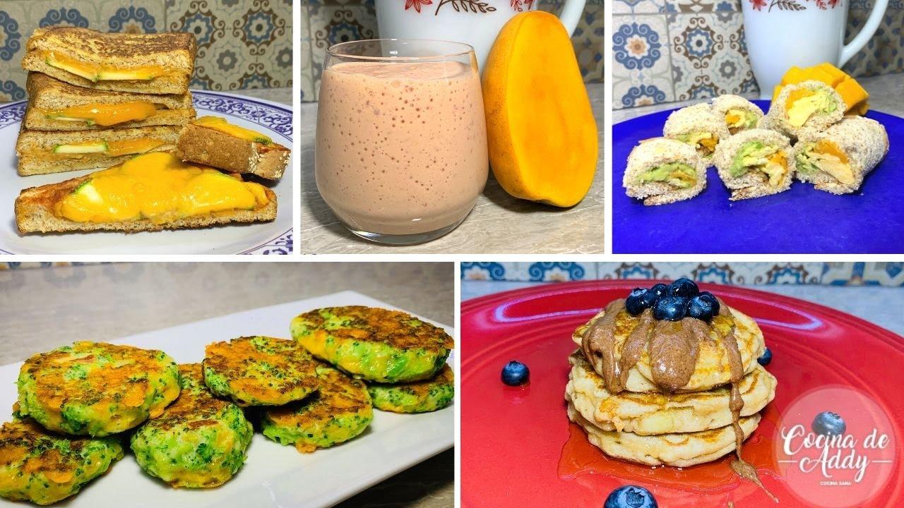 Desayunos Saludables P Niños 3 En Adelante Ideas Fáciles Platos Limpios Cocina De Addy Youtube